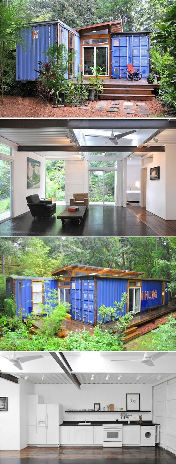 Shipping container home designed by Price Street Projects #containerhome #shippingcontainer