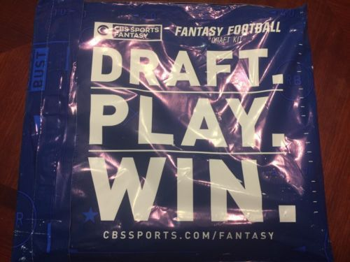 Fantasy 44111: New Sealed 2017-2018 Cbs Official Fantasy Football Draft Kit Board And Stickers -> BUY IT NOW ONLY: $34.99 on eBay!