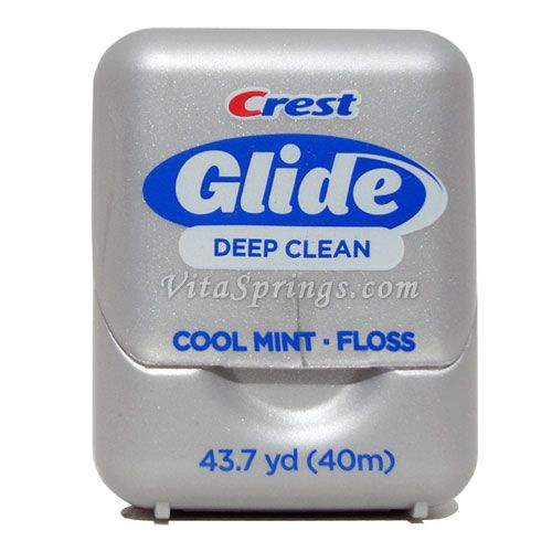 Crest Glide Dental Floss - Dental floss has superb tensile strength. Use it to sew a shoulder strap back on to a backpack or lash a garbage sack to the skeleton of an improvised shelter to form the roof. It can be used to build snares, fire starting and is very lite and small to carry.