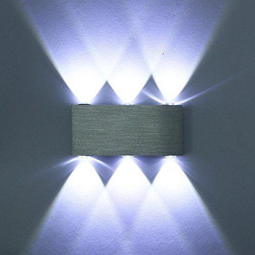 Lightess Apliques de Pared Rectangular Lámpara de Pared Lámpara en Moda de Puro Aluminio 6 LED 6 W Luz Cálida y Agradable Luz de Ambiente, Iluminación de Pasillo, Entrada, Dormitorio, Decoración Hogar, Blanco Frío #Lightess #Apliques #Pared #Rectangular #Lámpara #Moda #Puro #Aluminio #Cálida #Agradable #Ambiente, #Iluminación #Pasillo, #Entrada, #Dormitorio, #Decoración #Hogar, #Blanco #Frío