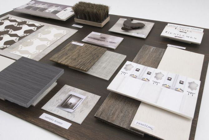 Presentation materials anna burles interior design for Interior decoration with waste material