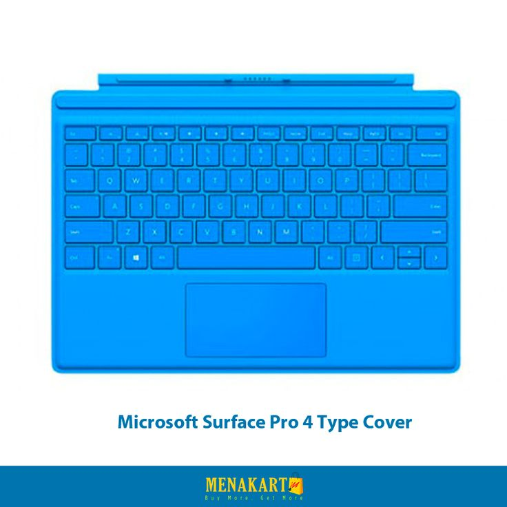 Buy Microsoft Surface Pro 4 Type Cover Online at Menakart.com. Shop Now #microsoftsurface #laptopcovers #accessories #online #menakart