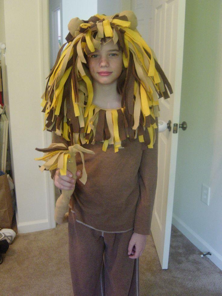 Easy Lion CostumeCostumes Tutorials, Diy Halloween Costumes, Diy Lion, Lion Costumes, Felt Strips, Easy Lion, Mardi Gras, Face Painting, Costumes Ideas