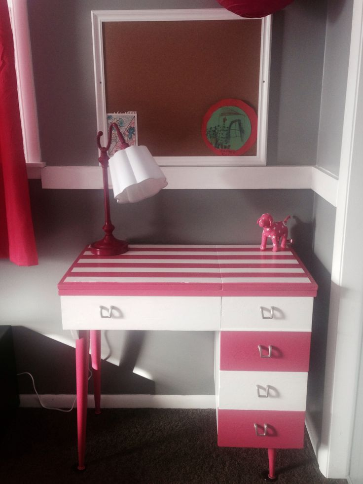 Sewing machine table turned desk for our