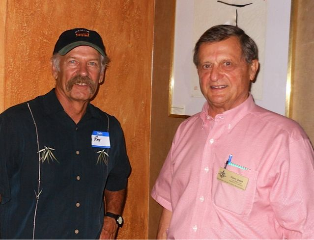 Dr. Ray Young & Harry Dunn at the Tsunami Meet & Greet in downtown Sarasota in November 2013