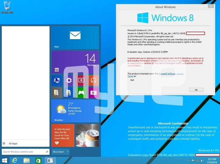 Windows 9 Start Menu Leaks in New Screenshot http://news.softpedia.com/news/Windows-9-Start-Menu-Leaks-in-New-Screenshot-451564.shtml