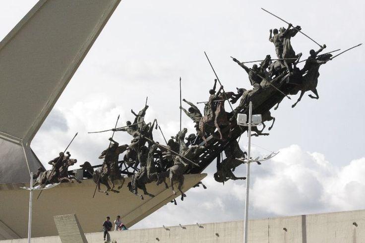 Monumento a los Lanceros, Boyacá Colombia. Escultor Colombiano, Rodrigo Arenas Betancourt