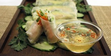 MAKING THESE TOMORROW!! yum!! Fresh Avocado Spring Rolls with Sweet Thai Dipping sauce