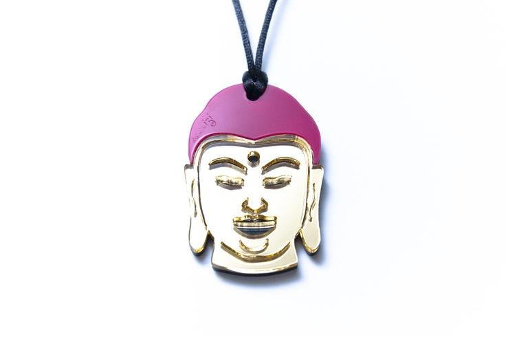 Buddha Aynalı Kolye