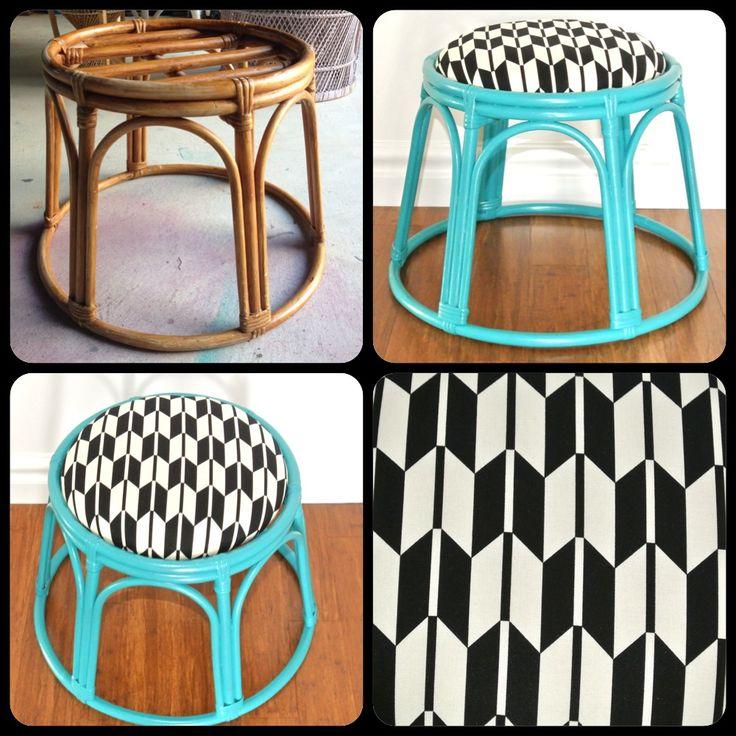 Beautifully Upcycled Cane Stool Diy Crafts Pinterest