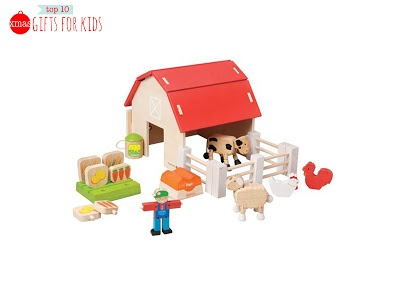 8. Organic Farm Set  Fair Trade Wooden toy made from FSC sustainable resources and non-toxic water based, paints by Ever Earth  http://www.ecobella.com.au/eco-child/organic-farm-set.html