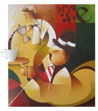 ¿Más café Sr. Pavón? 65x55 cm | Acrylic on canvas (2011) Javier Pavón