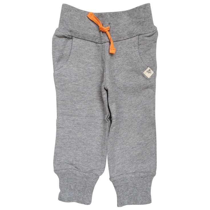Burt's Bees Baby heather gray organic cotton french terry pant