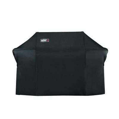 weber grill cover with storage bag for summit 600series gas grills black - Grill Covers