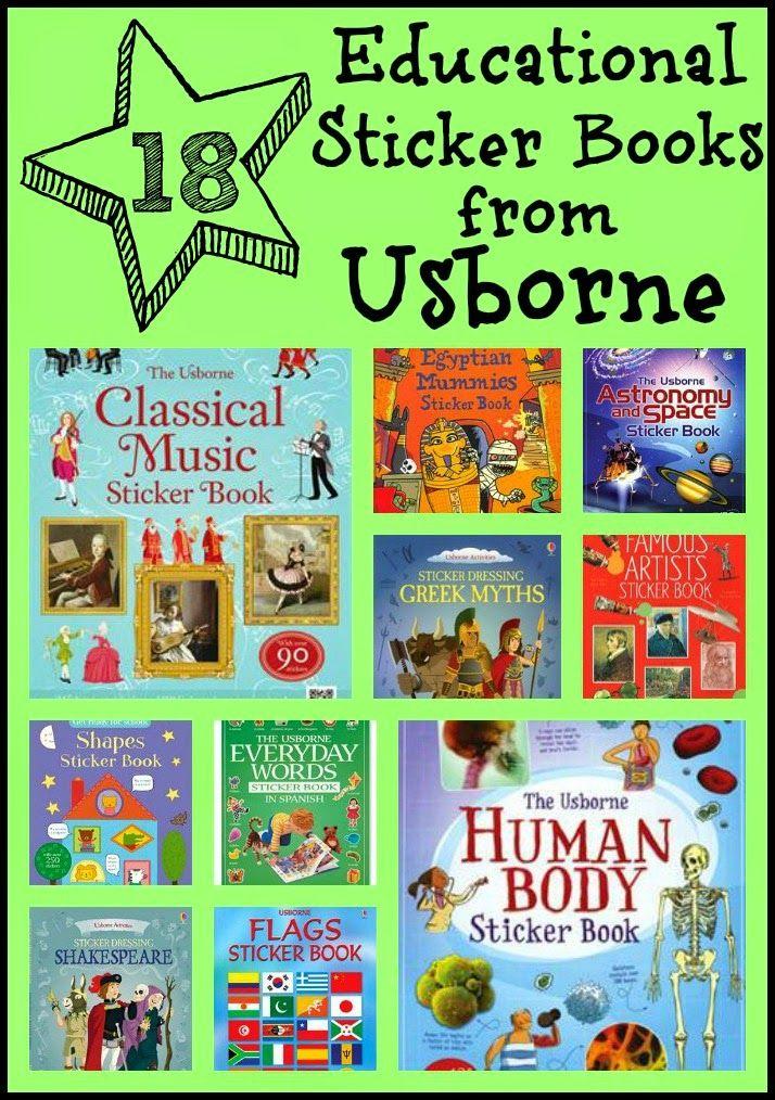 18 Educational Sticker Books from Usborne www.booksandbrownies.com