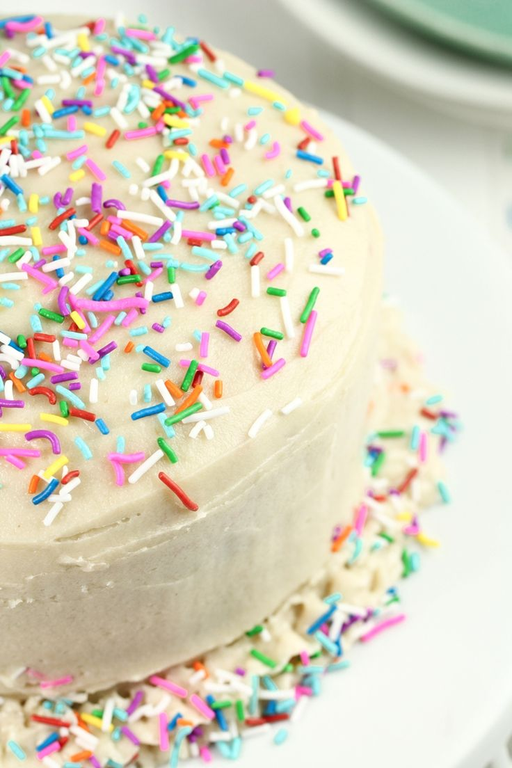 Vegan Birthday Cake Images : Vegan Gluten-Free Funfetti Birthday Cake Recipe To be ...
