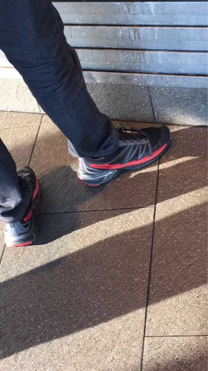 Black/Red Yeezy 350 v2 spotted in the wild