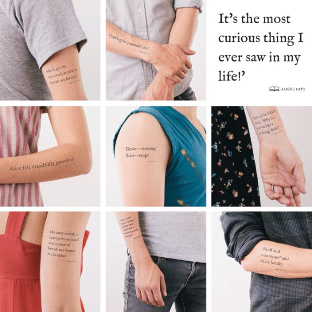 A Litographs, uma empresa que cria produtos de design com inspiração na literatura, lançou uma campanha no Kickstarter para arrecadar dinheiro para produzir tatuagens temporárias literárias, com partes de clássicos como Ulisses, Os Miseráveis, Sherlock Holmes. - See more at: http://followthecolours.com.br/tattoo-friday/empresa-lanca-colecao-de-tatuagens-temporarias-literarias/#sthash.bj5Qp0uz.dpuf