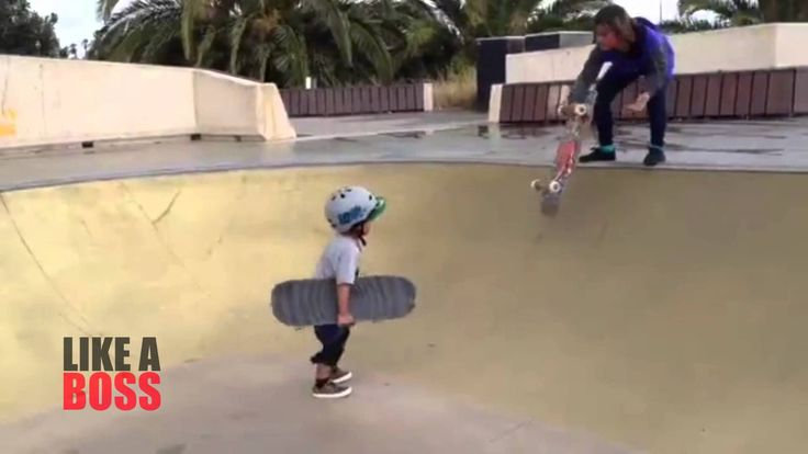 Amazing 3 Year Old Kid Skates Like A BOSS