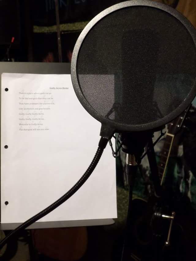 Recording the #GodlyAcres theme song #Greekmythology #webseries