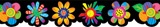 Checkout the Poppin Patterns Spring Flowers Bulletin Board Border product