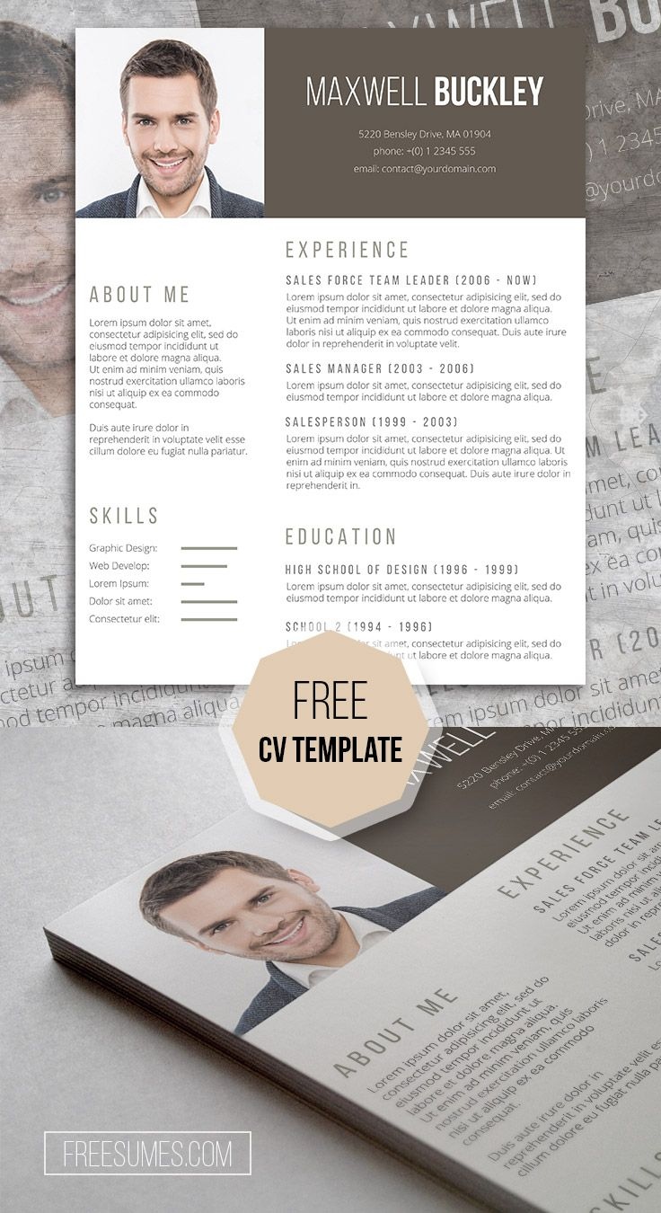 Free CV Template - The Headline, A Modern And Unique Resume Template Freebie