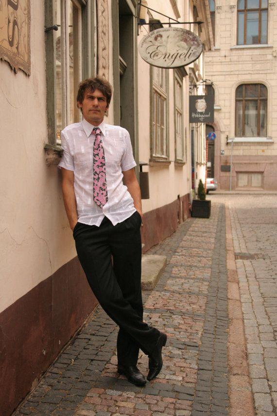 Black Tie  Hand Painted Silk Necktie Elegance Black by silkiness, $40.00