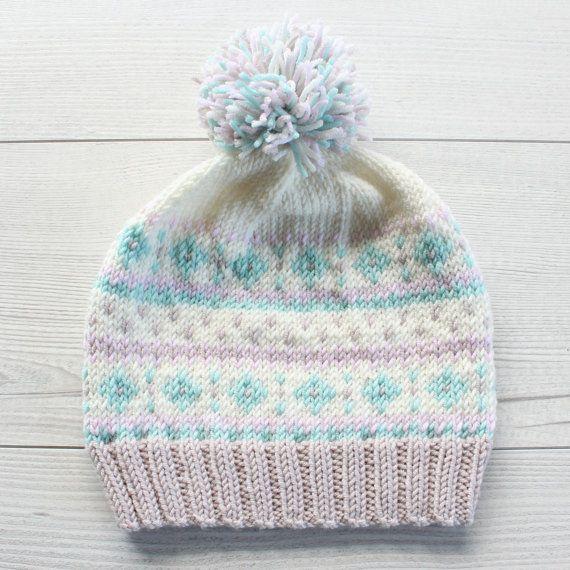 Knitting Pattern Suppliers : Fair Isle Hat Knitting Pattern PDF Knitting by HelloDollyKnitting Fiber Art...