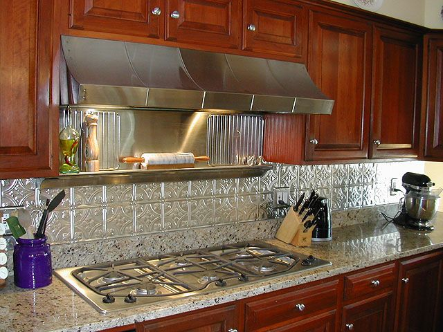 10 Best Metal Backsplash Images On Pinterest  Kitchens Cool Tin Backsplash For Kitchen Inspiration Design