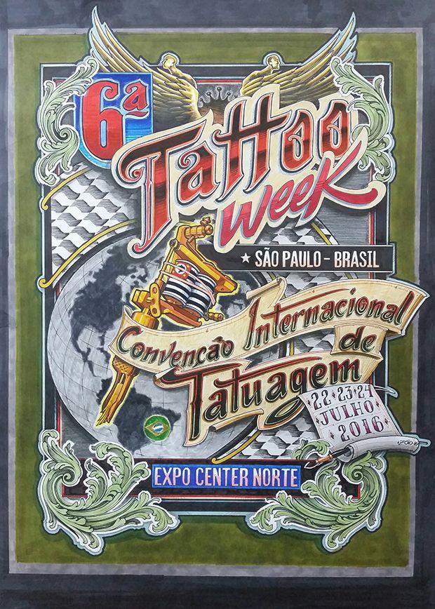 Nos dias 22, 23 e 24 de julho, São Paulo recebe mais uma vez a maior convenção de Tatuagem (agora do mundo!): a Tattoo Week SP 2016, que acontece no Expo Center Norte.