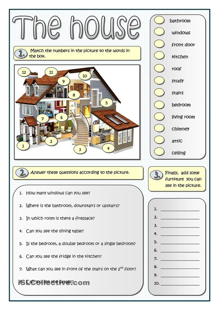 describing a house esl worksheets of the day english lessons english vocabulary english. Black Bedroom Furniture Sets. Home Design Ideas