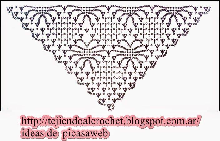 99 best Crochet chales images on Pinterest | Chrochet, Crochet ...