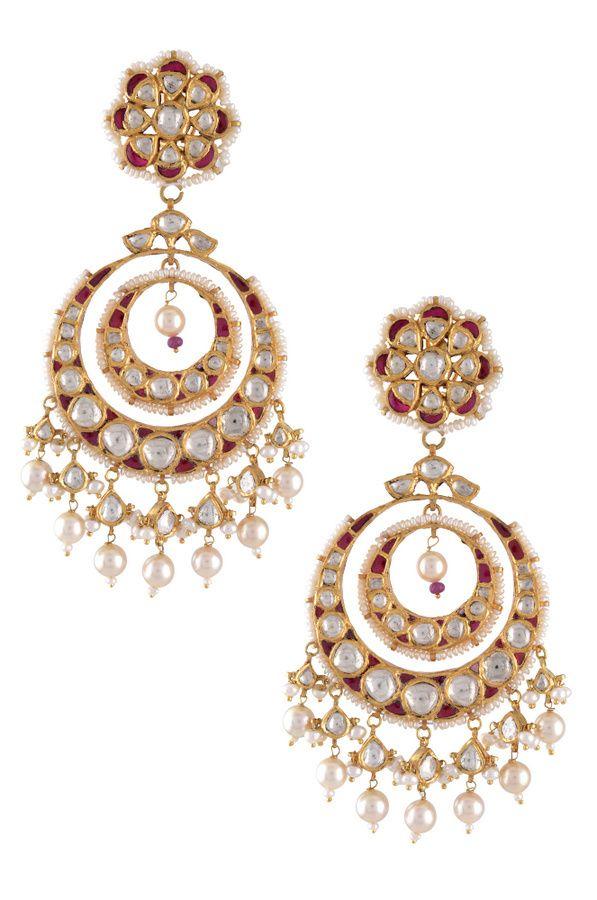 Beautiful Beaded Earring by Amrapali Jewels | Jivaana.com