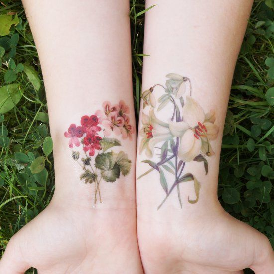 Make some beautiful temporary tattoos at home with your printer. Great for birthday parties! (English and German)