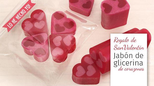 Regalos San Valentin: jabón de glicerina de corazones