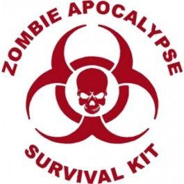 Zombie Apocalypse Survival Kit Decal