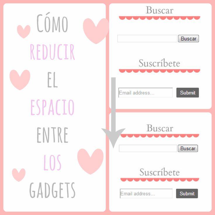Personalización de Blogs, blog sobre blogs: tutoriales blogger, trucos blog...: Cómo reducir el espacio entre los gadgets