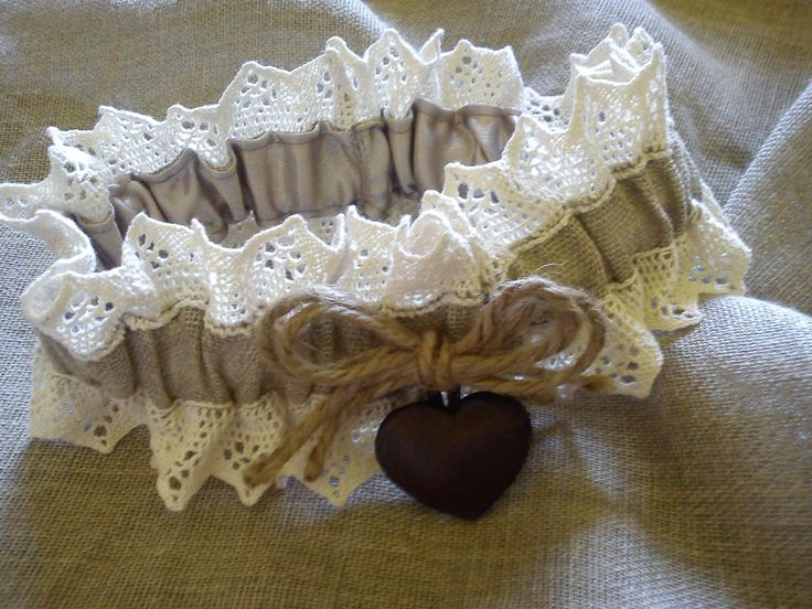 Burlap Wedding garter with petite leather heart, Old style, rustic, burlap, bush, Africa vintage with lace and leather cutie heart, Wedding Bridal Garter. Rustic Country style South Africa www.exclusivextras.wordpress.com