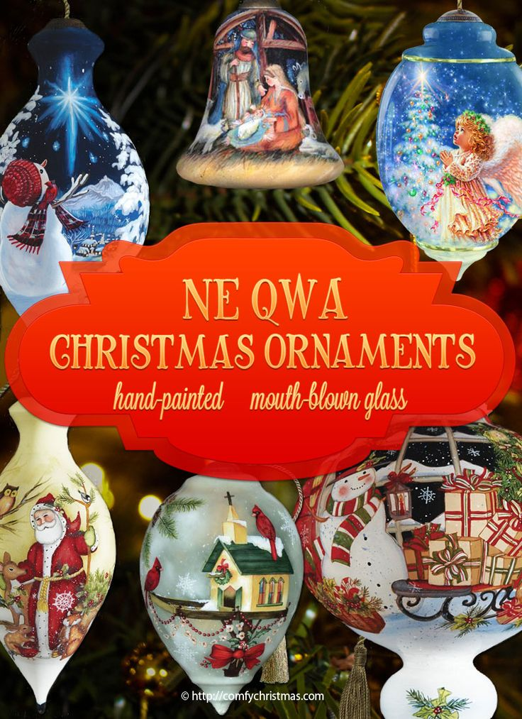 Beautiful hand-painted, mouth blown glass Ne Qwa #ChristmasOrnaments