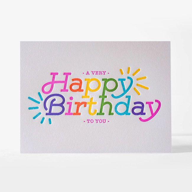 6 Super Cool Birthday Cards From Elum Happy Birthday Lettering Cool Birthday Cards Happy Birthday Fun