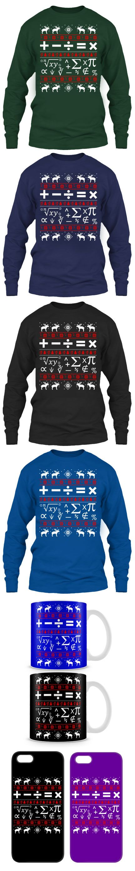 Math Ugly Christmas Sweater! Click The Image To Buy It Now or Tag Someone You Want To Buy This For.