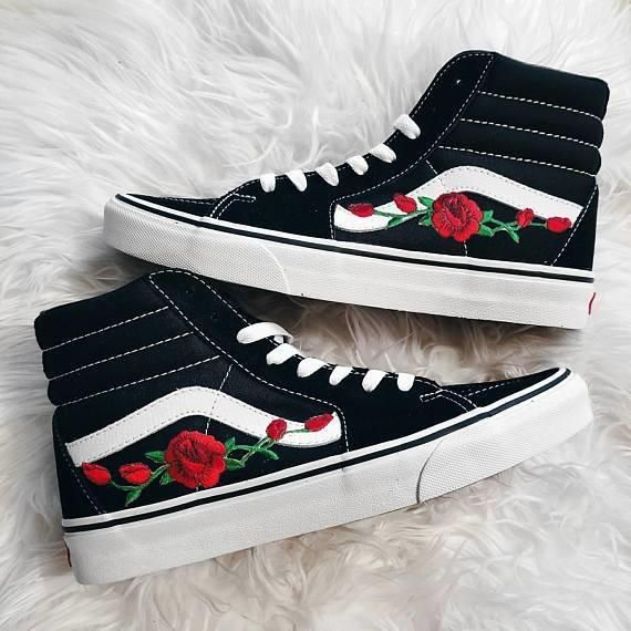 Prettyfitbox Com Vans N Roses Limited Edition Vans Shoes High