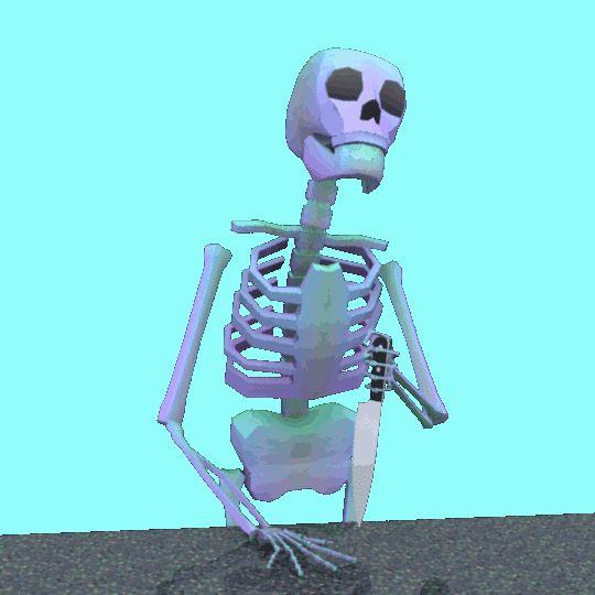 такие гифка скелет ползет по тротуару отметить