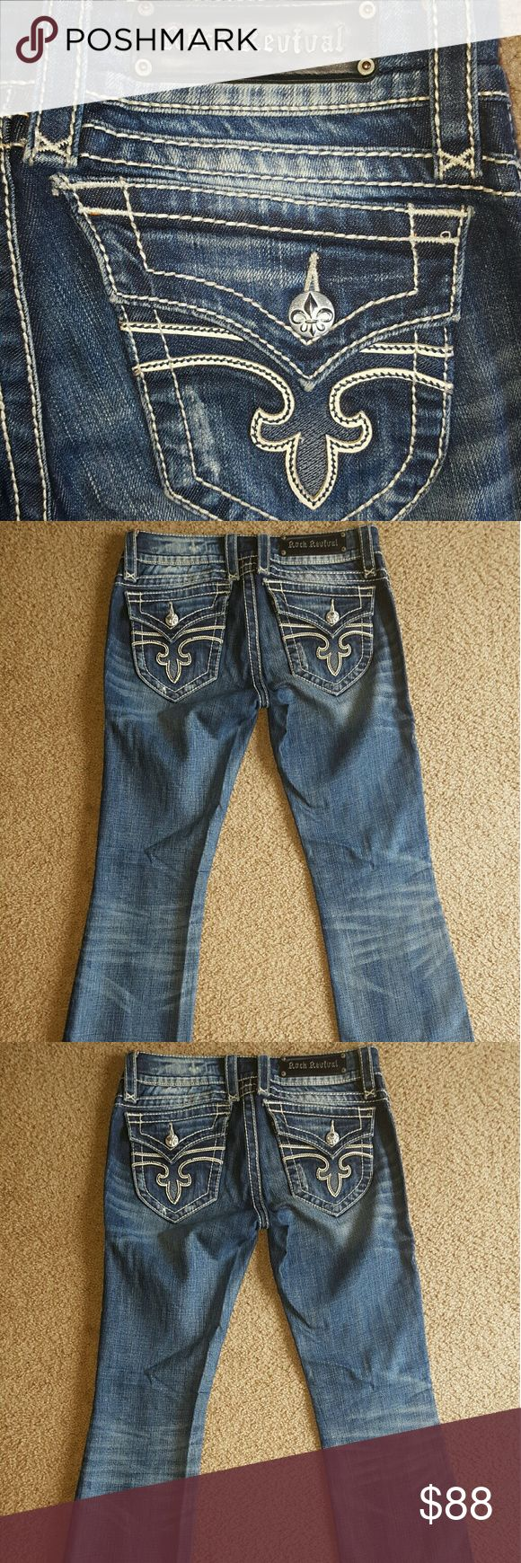 ROCK REVIVAL Womens Jeans pre-worn, good condition not heavily worn, no rips, stains, missing buttons. Rock Revival Jeans Straight Leg