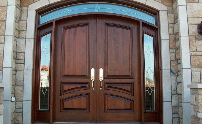 Wooden Door Custom Exterior Doors 3 Panel Glass Interior Door Main Door Design Wooden Main Door Front Door Design Wood