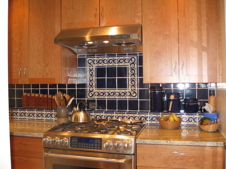 Beautiful And Stylish Kitchen Decorated With Mexican Tiles