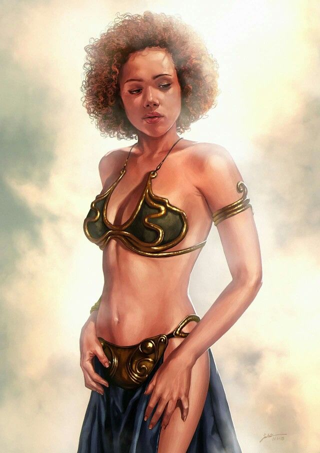 Missandei by JB Casacop. ~ based on the older version with Nathalie Emmanuel.  ^ Stating the obvious before anyone states the obvious, i.e, her age on the books. To be appreciated as is.