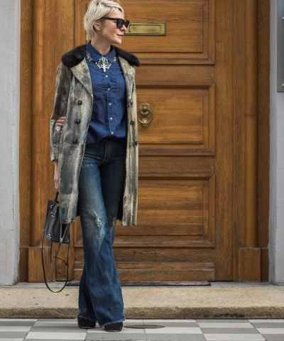 coat season ahead I vintage coat I Seafarer shirt I Emanuelle Bicocchi necklace I R13 Jane flared jeans I Isabel Marant suede Garbo ankle boots I Balenciaga Mini Papier I  #streetstyle #point41