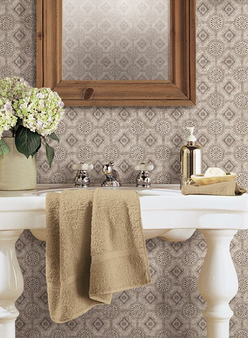 Photo Gallery Website  best Pretty Bathrooms images on Pinterest Powder room wallpaper Bathroom ideas and Bathroom wallpaper