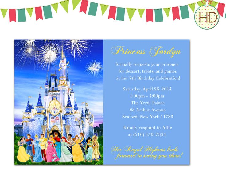Completely new 57 best Princess Invitations, Princess Birthday Party images on  DS58